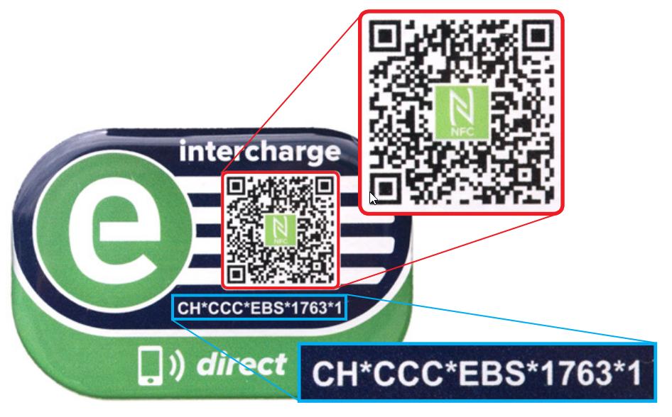 Mit dem Intercharge-Aufkleber lässt sich die Ladung einfach via QR-Code, Website oder Mobile App aktivieren.