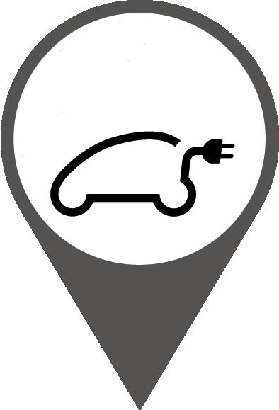 Ladestationen, die mit dem Autosymbol gekennzeichnet sind, sind durch Partner-Ladenetze verfügbar.